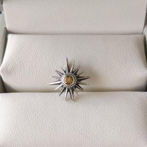 Jewelry - Boho Genuine Citrine Starburst Pendant in 925 SS